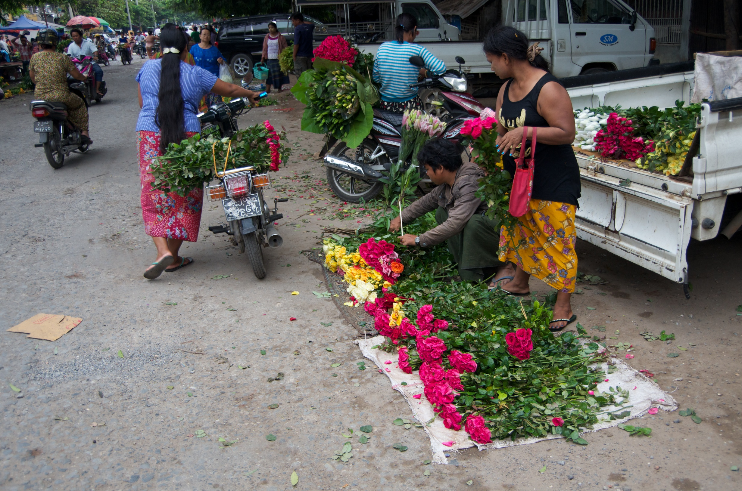 Flower Market Mandalay