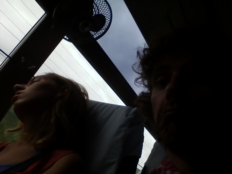 On the bus to Dumre