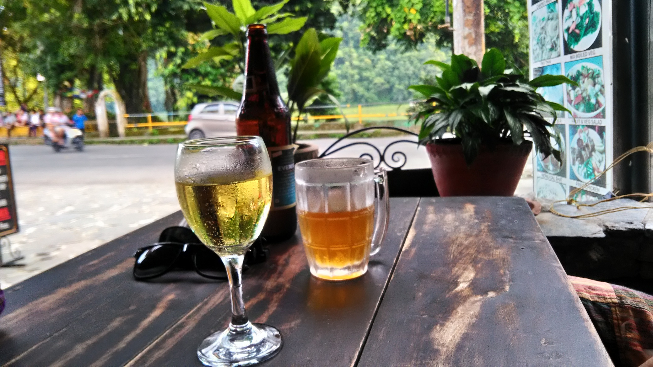 Beer and wine in Pokhara